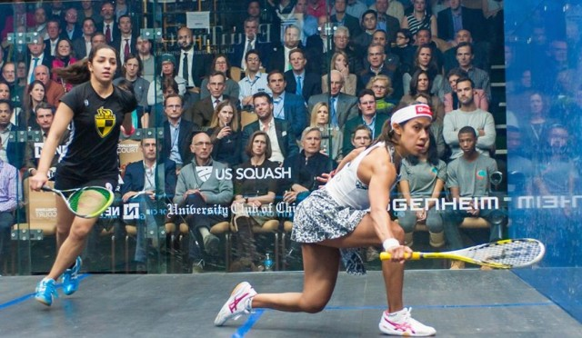 Nicol David and Raneem El Welily, who is closing in at the top