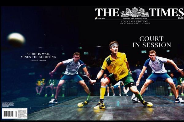 The Times front cover featured Cam Pilley and Greg Lobban