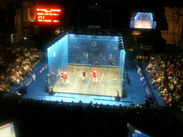 The court in use at the Commonwealth Games