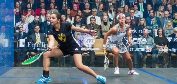 Nicol David faces a battle to hold off Raneem El Welily in China