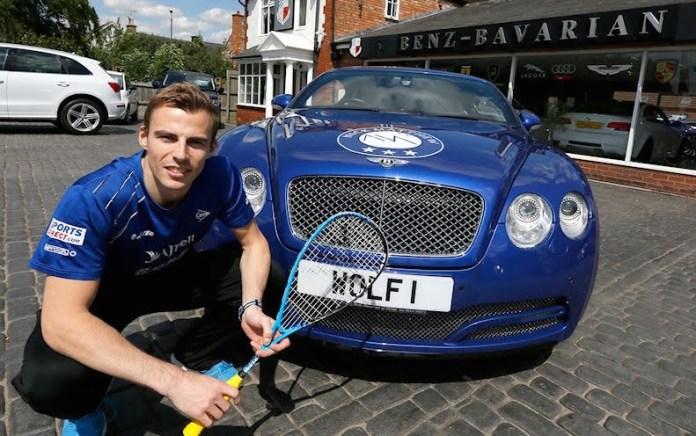 Nick Matthew unveils The Wolf Bentley Titan