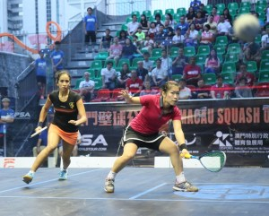 Egyptian teenager (left) makes her second successive final