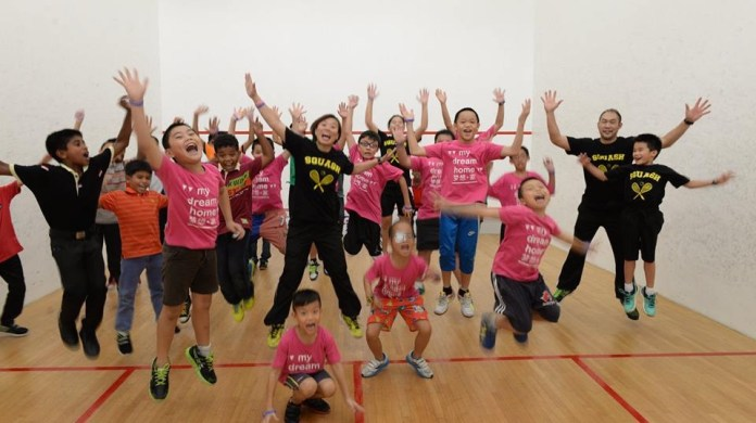 Sharon Wee gets the energy flowing on World Squash Day in Malaysia