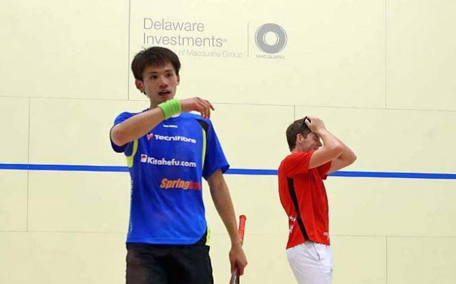 Greg Lobban (right) celebrates his moment of victory