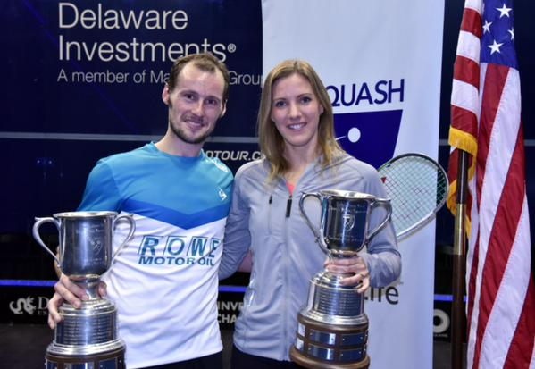 US Open champions Gregory Gaultier and Laura Massaro