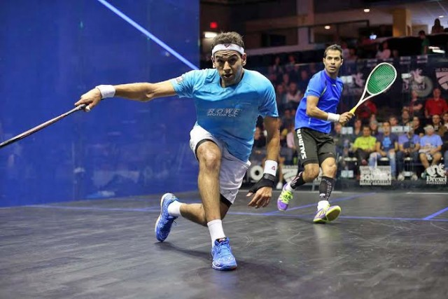 Mohameds Elshorbagy turns up the power against Cesar Salazar