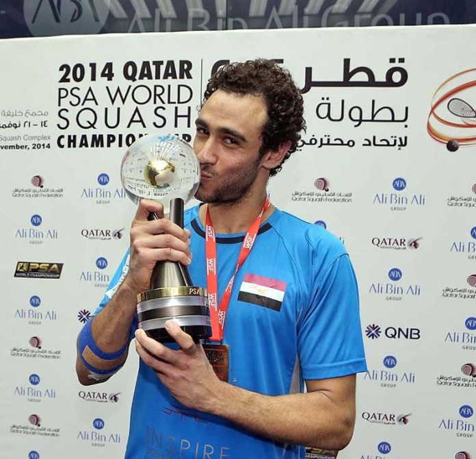 Ramy Ashour wins the world title in 2014