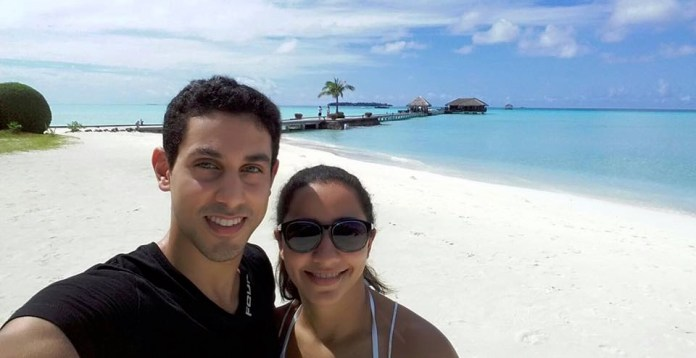 Tarek and Raneem soak up the sun in the Maldives
