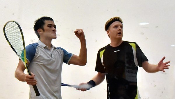Yip celebrates his moment of victory against Tom Richards