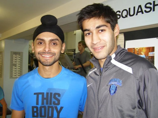 Surprise winner Ramit Tandon (right) and Harinder Pal Sandhu, who went out in qualifying