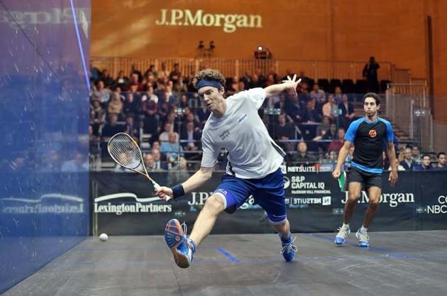Cameron Pilley beats Tarek Momen in the opening match
