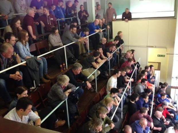 The packed gallery in Edinburgh