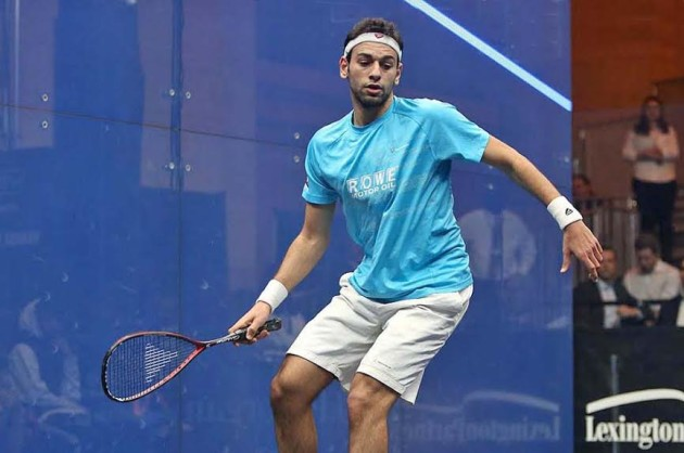 Mohamed Elshorbagy looks in top form against Adrian Waller