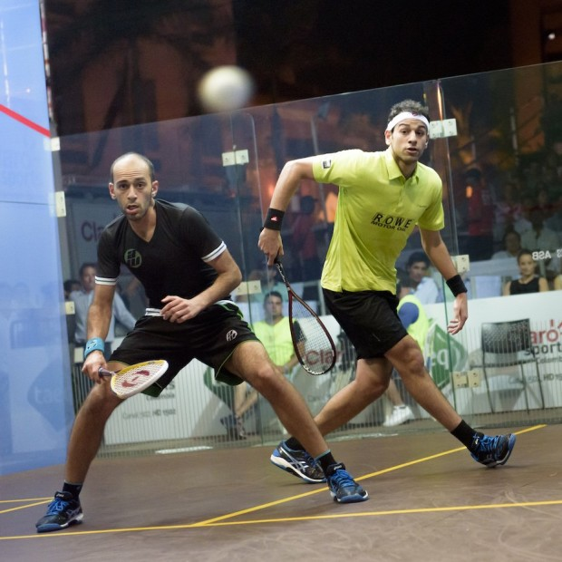 Marwan (left) and Mohamed battle for a place in the Colombia final