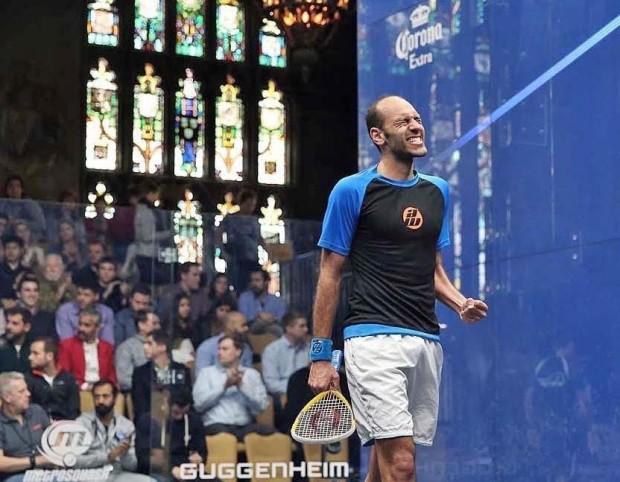 Marwan Elshorbagy celebrates victory