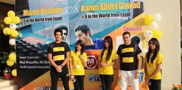 Karim Abdel Gawad and Mazen Hesham (left) get ready to wow the crowds in Pakistan