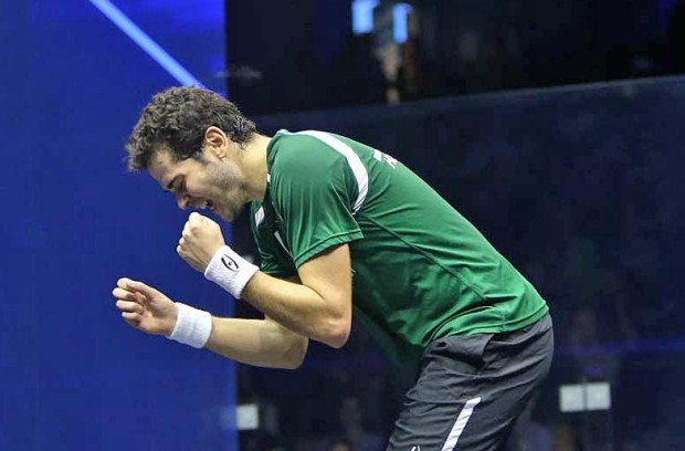 What a win! Karim Abdel Gawad celebrates his moment of victory