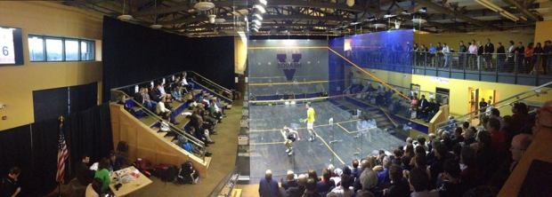 Action at the McArthur Squash Centre in Charlottesville