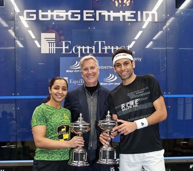The two champions with Mark Walter, CEO of Guggenheim Partners and the Title Sponsor of the Event.
