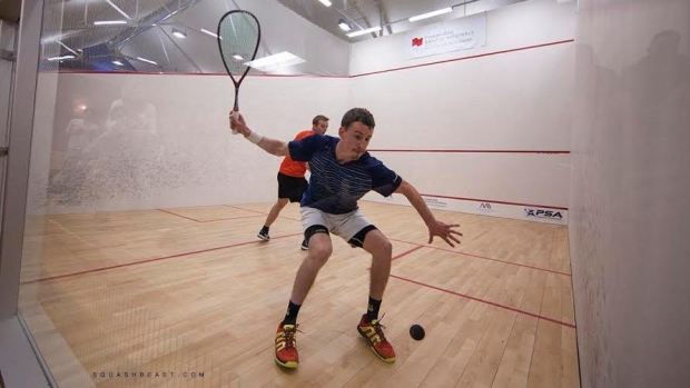 Chris Gordon sets up a big, booming forehand