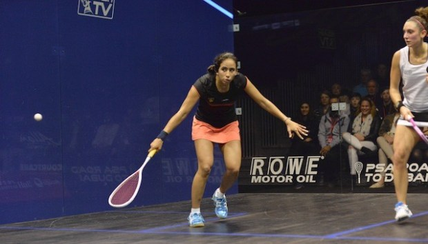Nouran Gohar takes out the reigning champion Camille Serme