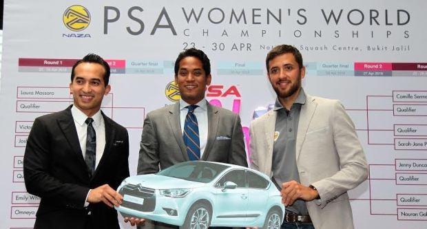 Women's squash in top gear with NS Khairy Jamaluddin and Azlan Iskandar