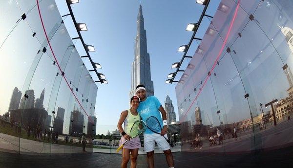 Mohamed Elshorbagy and Nicol David in Dubai