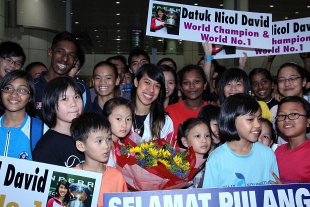 Nicol David can expect a massive reception back home in Malaysia