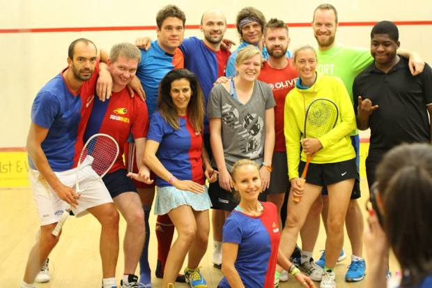 Teams line up for action in last year's Junkies festival