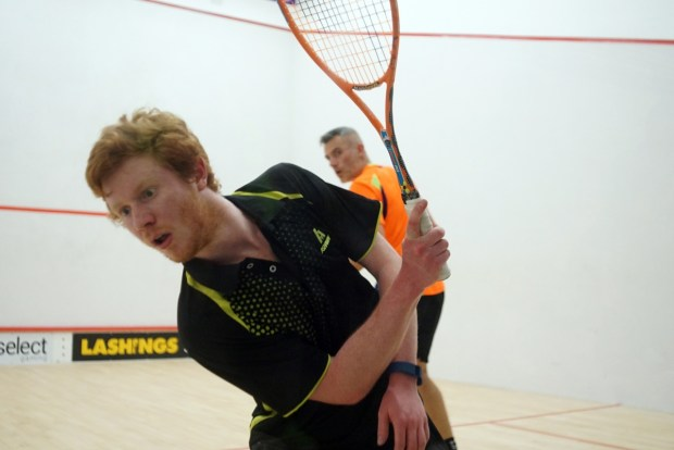 Nick Mulvey leans into a backhand