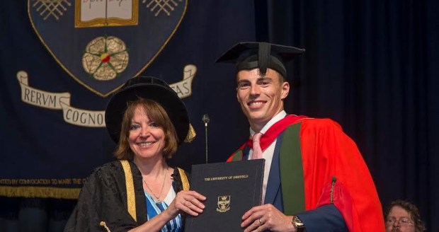 Nick Matthew receives his honorary doctorate