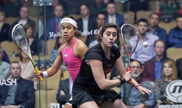 Nour El Sherbini and Nicol David