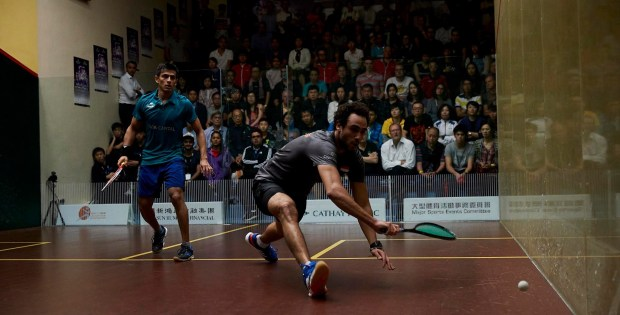 Ramy Ashour and Saurav Ghosal in action