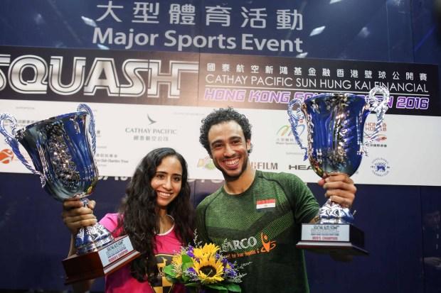 Egypt's Hong Kong champions Nouran Gohar and Ramy Ashour