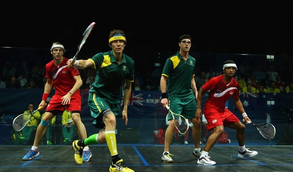 David Palmer and Cam Pilley in action in Glasgow