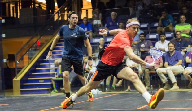 Steve Coppinger and Ryan Cuskelly in the final