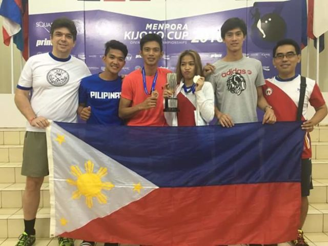 The Philippines team at a tournament in Indonesia a few months ago