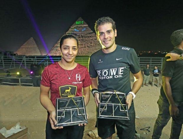 Champions Raneem El Welily and Karim Gawad