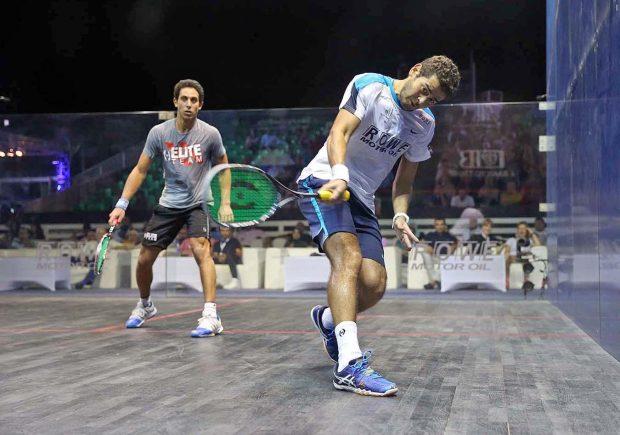 Karim Gawad in action against Tarek Momen