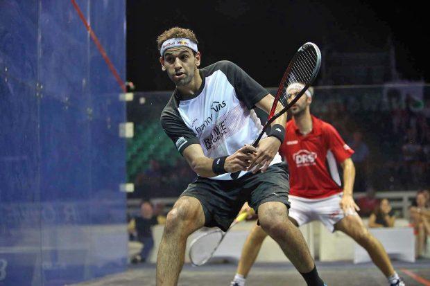 Mohamd Elshorbagy powers past Simon Rosner