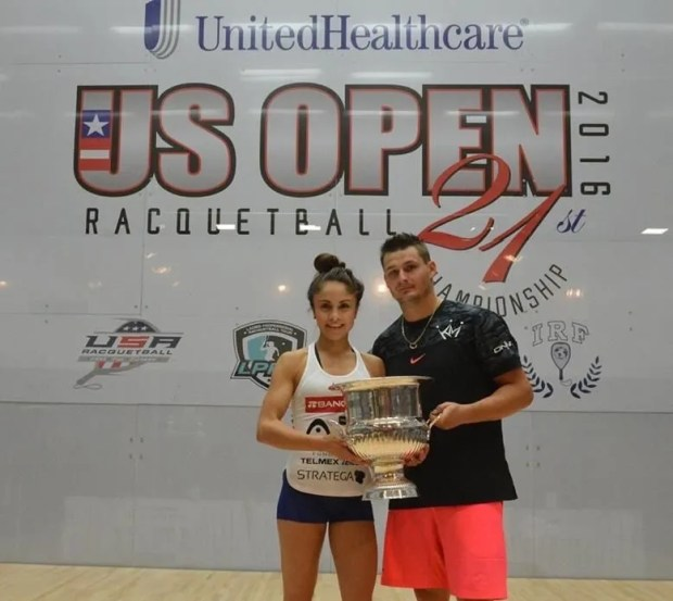 US Open Racquetball champions Paloa Longoria and Kane Waselenchuk