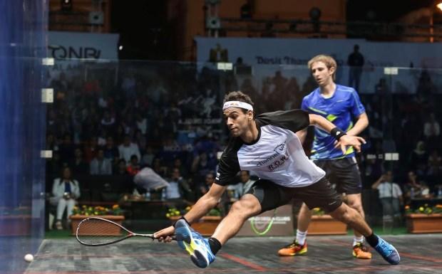 Mohamed Elshorbagy and Rex Hedrick in action