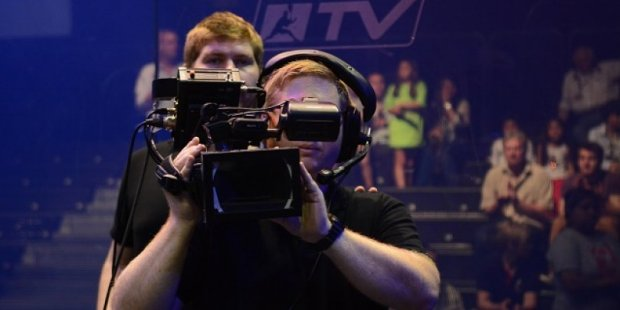 The Squash TV team in action