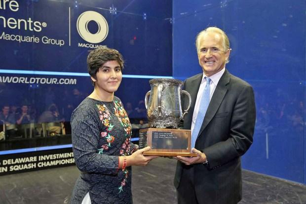Maria Toorpakai Wazr and the US Squash president