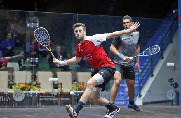 Daryl Selby in action against Omar Mosaad