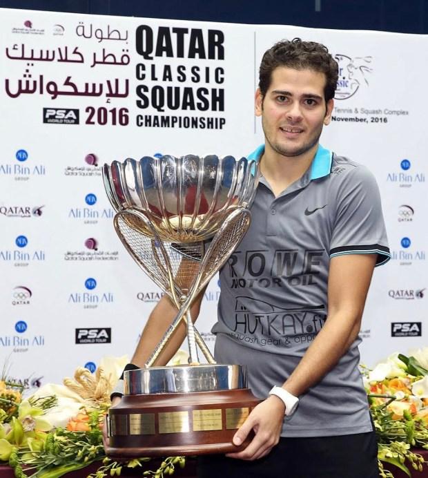 Trophy time for Karim Abdel Gawad