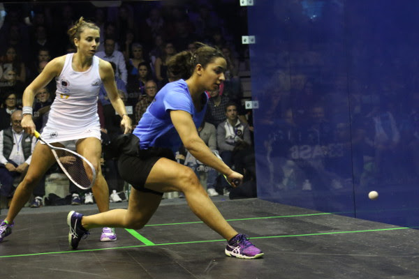 Raneem El Welily (right) and Laura Pomportes