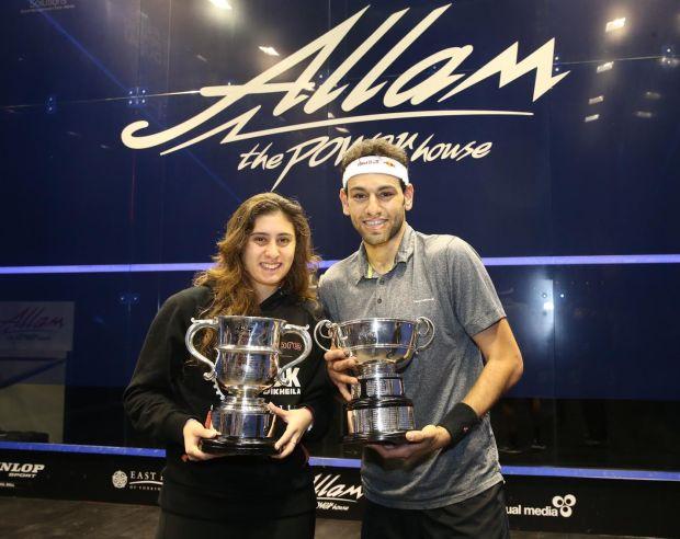 The 2016 champions Mohamed Elshorbagy and Nour El Sherbini, both from Egypt