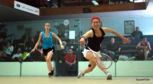 Alison Waters and Emily Whitlock in action. Picture by STEVE CUBBINS