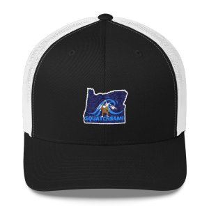 Squatchsami Mobile Cuisine Oregon Logo Bigfoot Ball Cap
